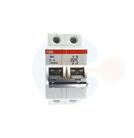 Mini Disjuntor 2P S62 Curva C 4A 3KA