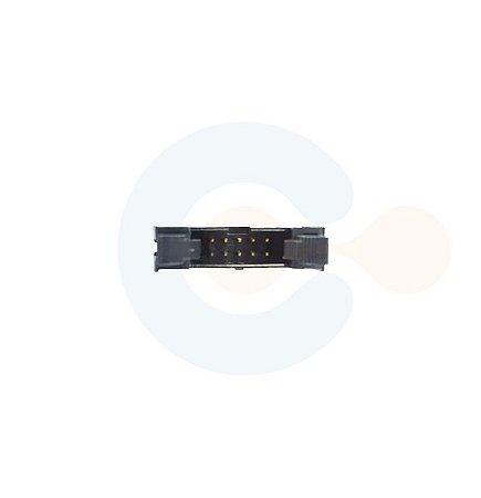 Conector Box Header Macho p/ PCI Vertical c/ Injetor 10 vias Preto