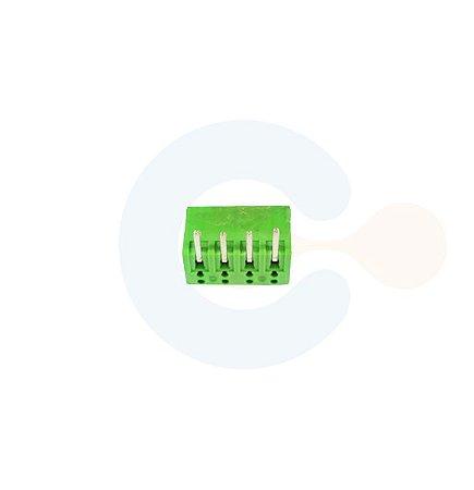 Conector Encaixe Macho p/ PCI 3,5mm Horizontal c/ laterais 4 vias Verde