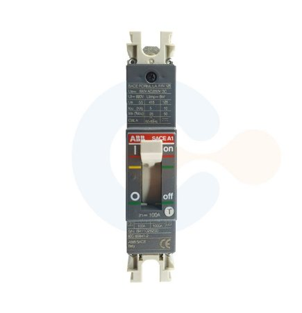Disjuntor Caixa Moldada 1P SACE Formula A1N 100A 25kA