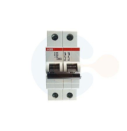 Mini Disjuntor 2P S202 Curva D 50A 6kA