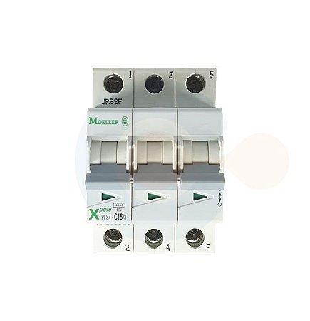 Mini Disjuntor 3P PLS4 Curva C 16A 4,5kA