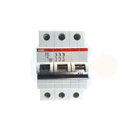 Mini Disjuntor 3P S203 Curva C 20A 6kA