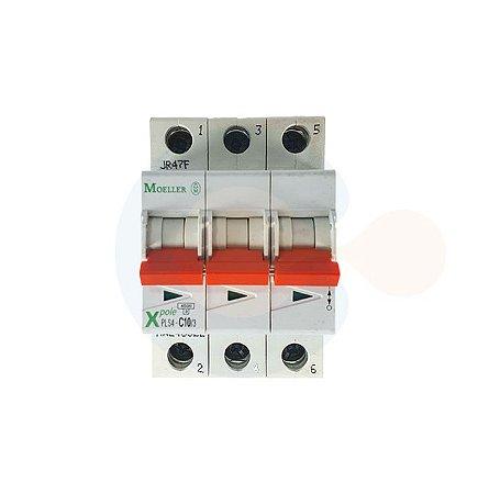 Mini Disjuntor 3P PLS4 Curva C 10A 4,kA