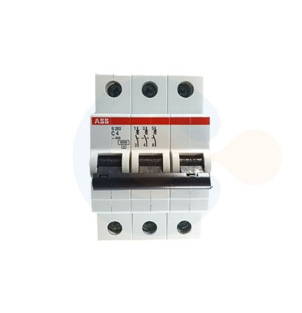 Mini Disjuntor 3P S203 Curva C 4A 6kA