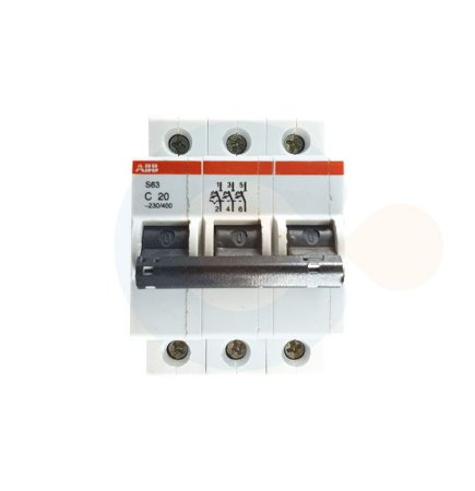 Mini Disjuntor 3P S63 Curva C 20A 3kA