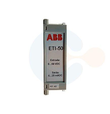 Transdutor de Tensão CC ETI50 0 a 60 VDC/ 4 a 20 mADC/ ALIM 20 A 60 VAC/VDC