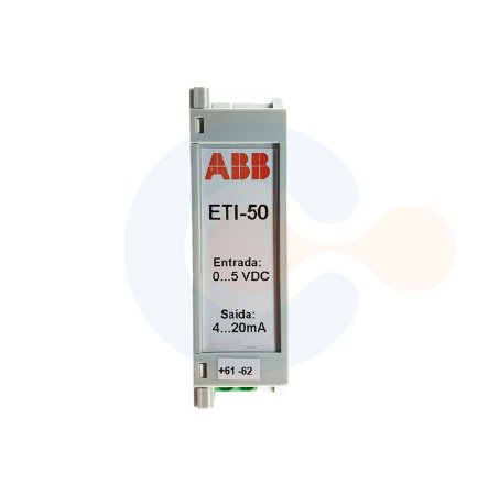 Transdutor de Tensão CC ETI50 0 a 5 VDC/ 4 a 20 mA/ ALIM 85 A 265 VAC/ 90 A 300 VDC