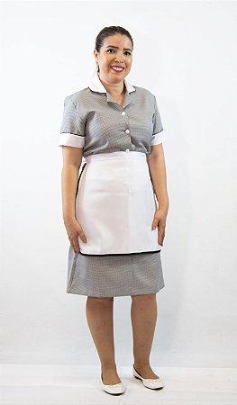 Vestido Pied de Poule com Avental