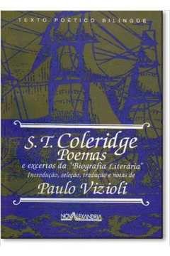 Poemas & Excertos da Biografia Literária - Samuel Taylor Coleridge