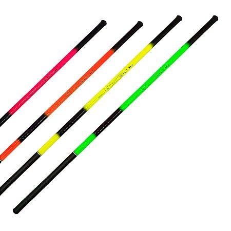 Kit Pesca 2 Varas de Mão 2,70m 40% Carbono Fluorescente 6 Lbs