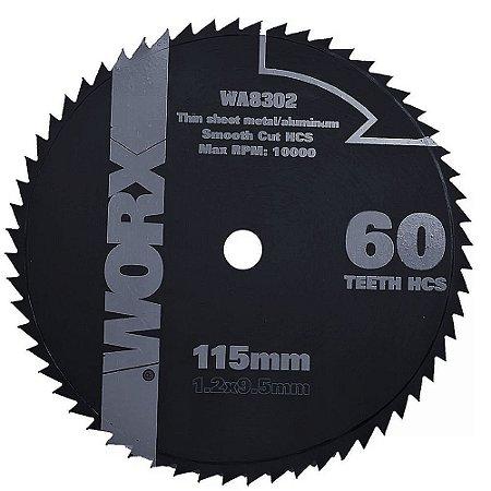 DISCO PARA METAL MINI SERRA WX429 115MM 60 DENTES WORX WA8302