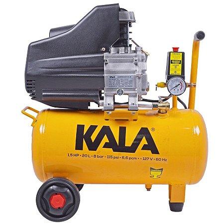 COMPRESSOR DE AR 20L 1,5HP 8BAR 127V KALA 863173