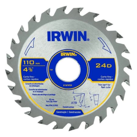 "SERRA WIDEA 4.3/8""x24 DENTES 20MM IRWIN IW14104"