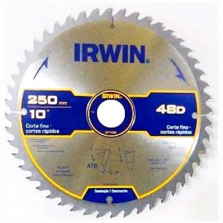 DISCO DE SERRA 250MM 48 DENTES PARA MADEIRA IRWIN 1863688