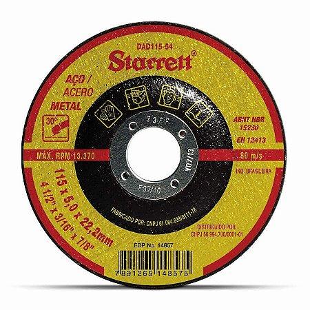DISCO DE DESBASTE 115X5,0X22,2MM STARRETT DAD115-54