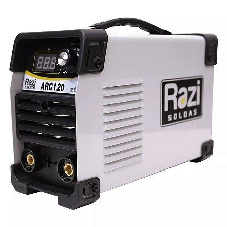 INVERSORA DE SOLDA PAINEL DIGITAL ARC120 220V RAZI 18407