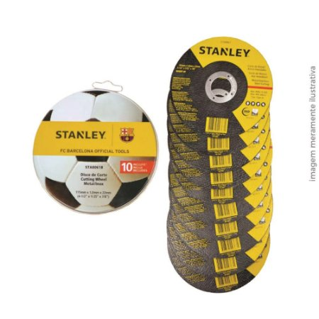 Disco De Corte 10 Unid. 115x1,0x22mm Sta8061b Stanley