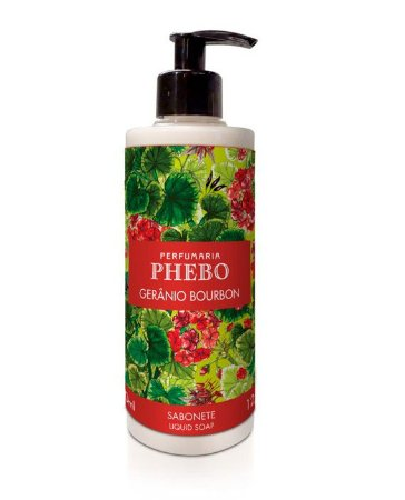 Phebo Sabonete líquido Gerânio Bourbon 360ml