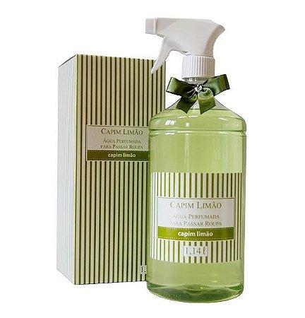 Capim Limão - Água Perfumada para Roupas com Válvula Capim Limão 1,14L