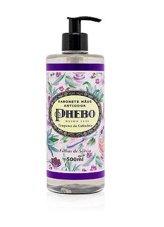 Phebo Sabonete Líquido Antiodor Folhas de Sálvia 500ml