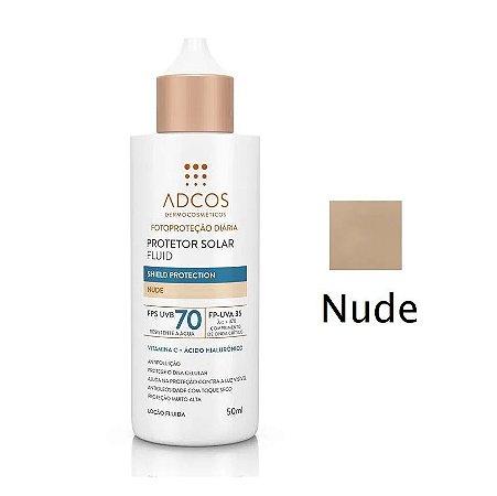 Adcos Protetor Solar Fluido Tonalizante FPS70 50ml Cor Nude