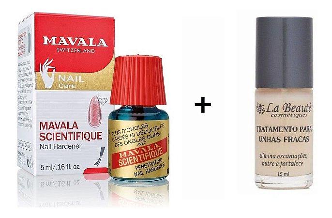Kit Mavala Endurecedor De Unhas + Base La Beauté para Unhas Fracas