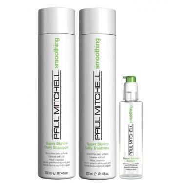 Paul Mitchell Super Skinny - Kit Shampoo Condicionador e Sérum 25ml