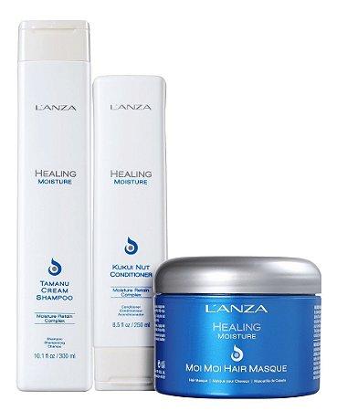 Lanza Healing Moisture - Kit Shampoo Condicionador e Máscara