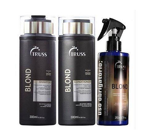 Truss Blond - Kit Shampoo Condicionador e Uso Obrigatório Blond