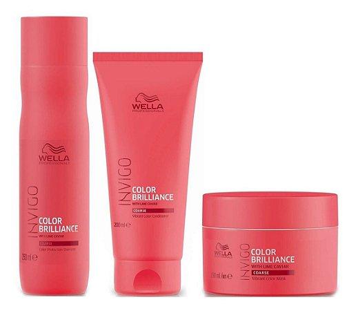 Wella Invigo Color Brilliance - Kit Shampoo Condicionador e Máscara