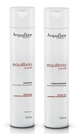 Acquaflora Equilíbrio Queda - Kit Shampoo e Condicionador Raiz Oleosa Ponta Seca