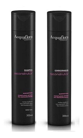 Acquaflora Reconstrutor - Kit Shampoo e Condicionador