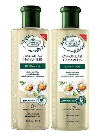 Flores e Vegetais Camomila e Hamamelis - Kit Shampoo e Condicionador