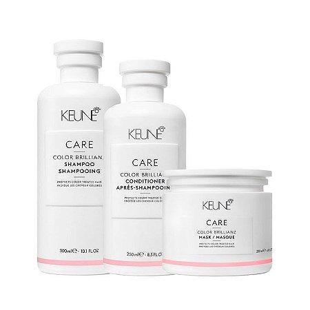 Keune Color Brillianz - Kit Shampoo Condicionador e Máscara