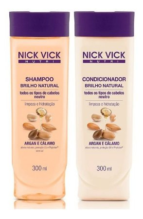 Nick Vick Nutri Hair - Brilho Natural Kit Shampoo e Condicionador