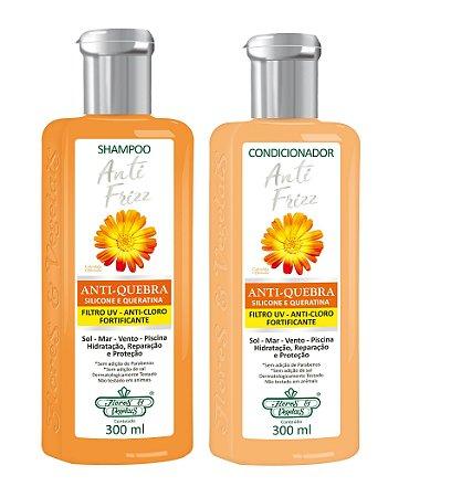Flores e Vegetais Anti-Frizz  - Kit Shampoo e Condicionador