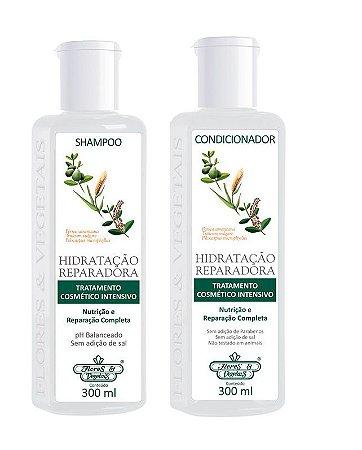 Flores e Vegetais Hidratação Reparadora - Kit Shampoo e Condicionador