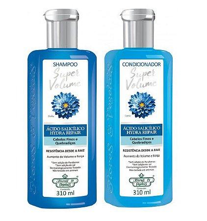 Flores e Vegetais Super Volume - Kit Shampoo e Condicionador
