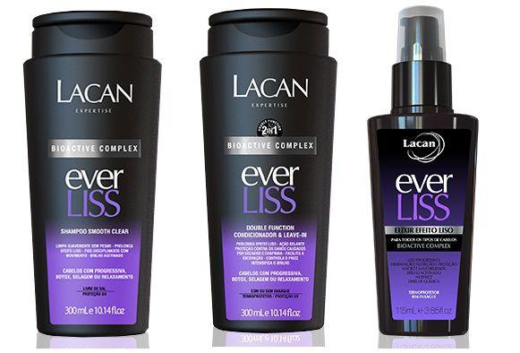 Lacan Ever Liss - Kit Shampoo Condicionador e Elixir Efeito Liso