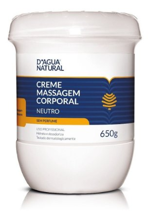 Dagua Natural Creme De Massagem Neutro 650g