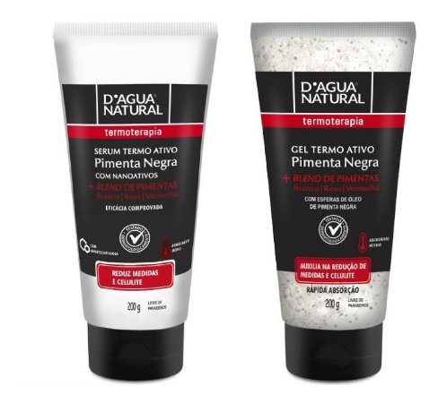 Dagua Natural Pimenta Negra - Kit Gel e Serum Termoativo