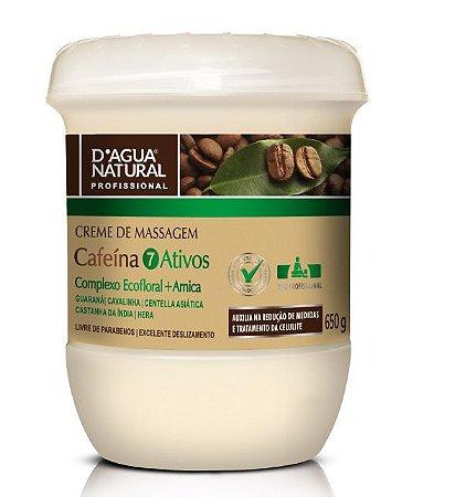 Dagua Natural Creme de Massagem Cafeína 7 ativos 650g