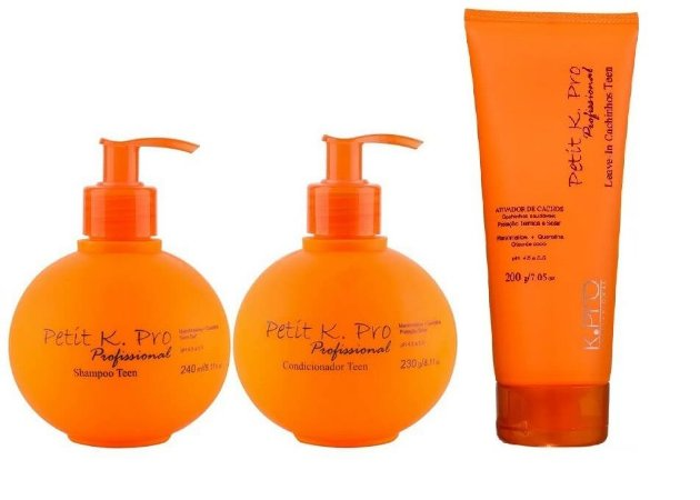 Kpro Petit - Kit Shampoo Condicionador e Leave-in Cachinhos