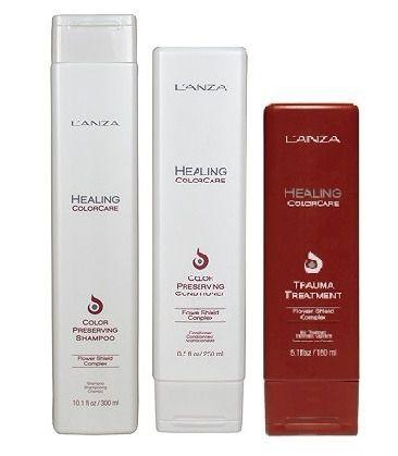 Lanza Healing Color Care - Kit Shampoo Condicionador e Trauma Treatment