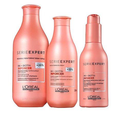 Loreal Serie Expert Inforcer - Kit Shampoo Condicionador e Leave-in