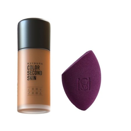 Beyoung Color Second Skin 06 + Esponja Flat Blend Mariana Saad by Oceane