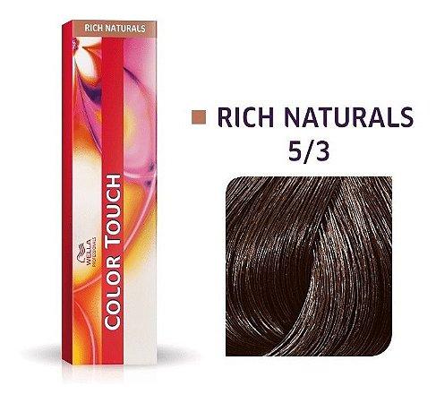 Wella Color Touch Tonalizante 5/3 Castanho Claro Dourado 60g