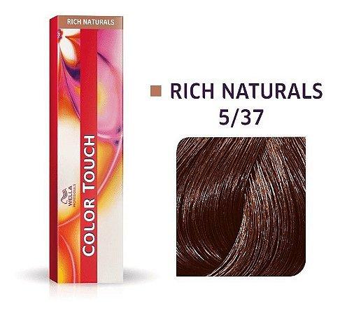 Wella Color Touch Tonalizante 5/37 Castanho Claro Dourado Marrom 60g