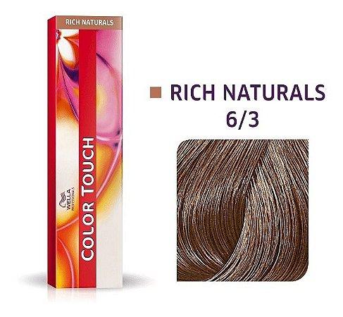 Wella Color Touch Tonalizante 6/3 Louro Escuro Dourado 60g